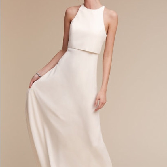 BHLDN Dresses & Skirts - ❤️❤️ BHLDN Iva Crepe Maxi Dress Ivory